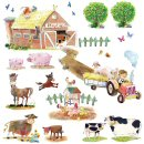 Decowall - Farm Animals Wall Stickers