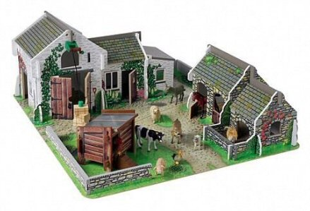 ELC Cobblestone Farm with buildings and yard