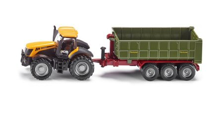 Siku (1855) JCB Fastrac with Fortune Trailer in 1:87 Scale