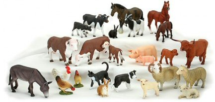 Complete range of Mojo farm animals on display