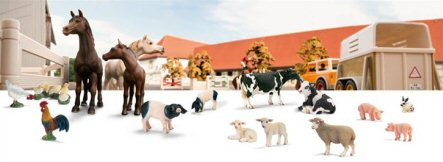 Schleich big farm animals make our number 1 spot on our top 10 list